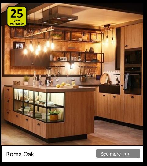 Explore the Delinia Roma kitchen range. Be inspired.