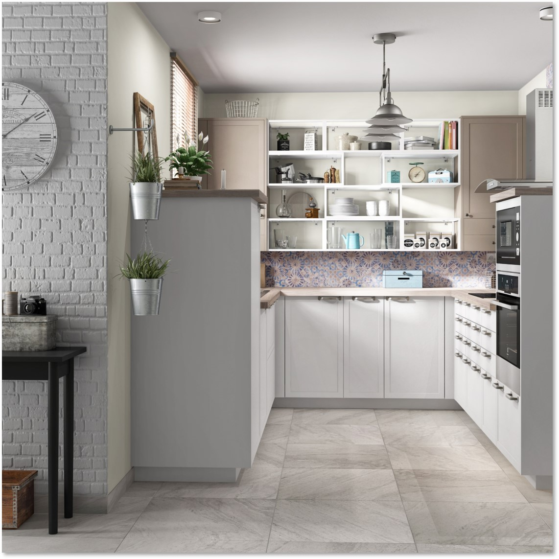 Delinia Newport White Designer Kitchen - Example 2