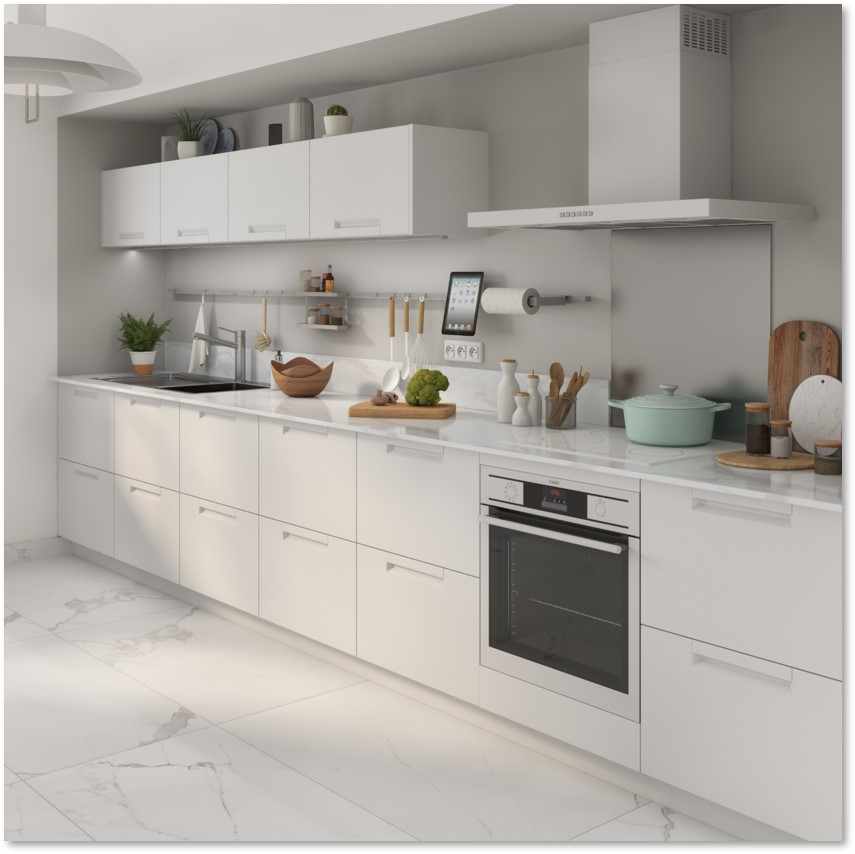 Delinia Evora White Designer Kitchen - Example 1