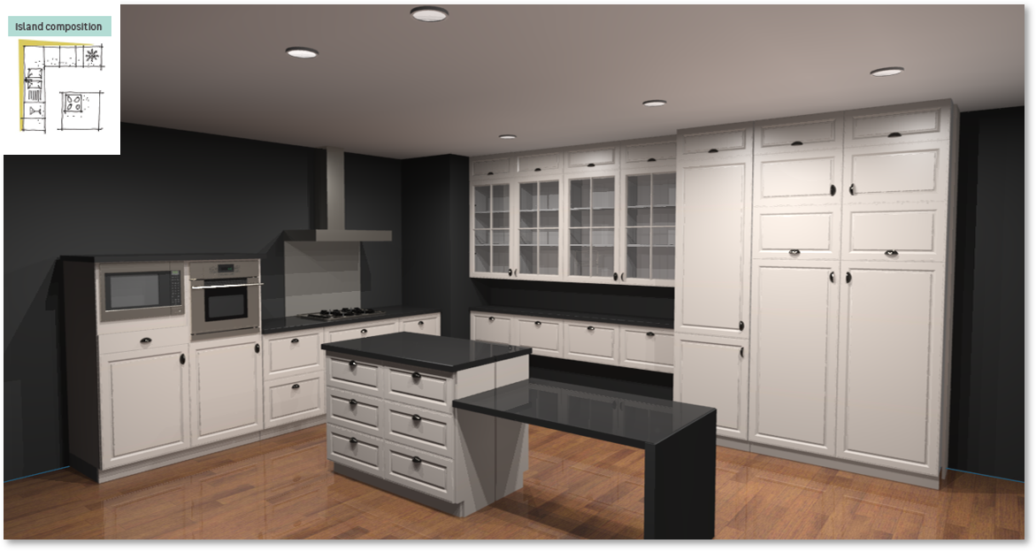 Oxford Inspirational kitchen layout examples - Example 6