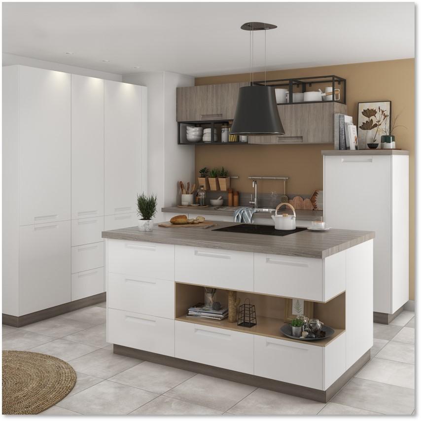 Delinia Evora White Designer Kitchen - Example 4