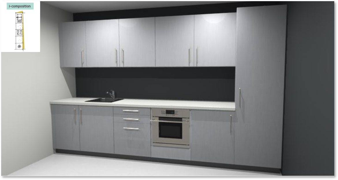 Inspirational kitchen layout examples - Example 1
