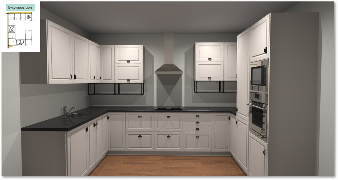 Oxford Inspirational kitchen layout examples - Example 4