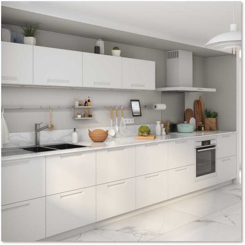 Delinia Evora White Designer Kitchen - Example 3