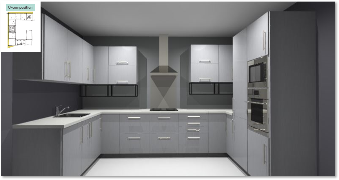 Inspirational kitchen layout examples - Example 4