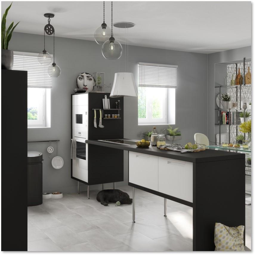 Delinia Evora White Designer Kitchen - Example 2
