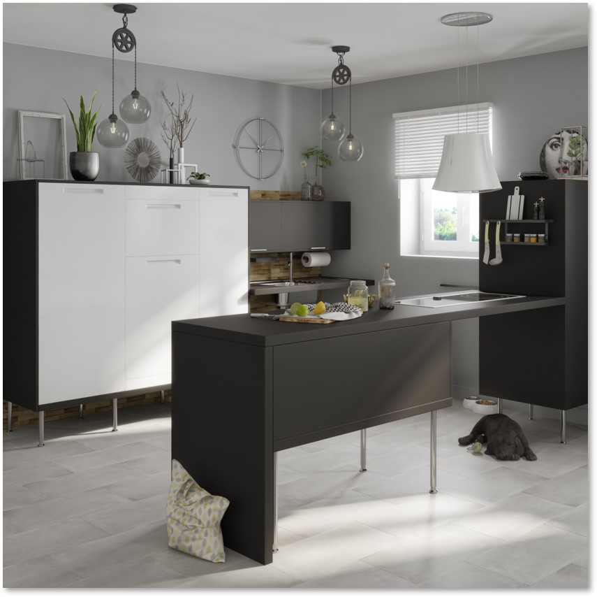 Delinia Evora White Designer Kitchen - Example 5