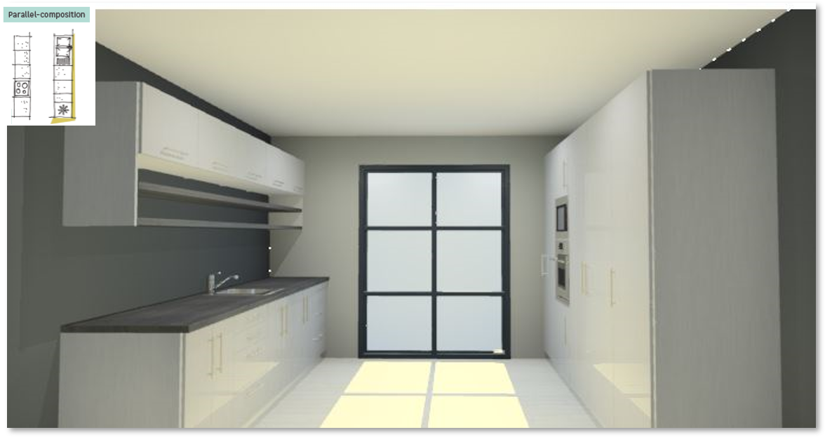 Inspirational kitchen layout examples - Example 5