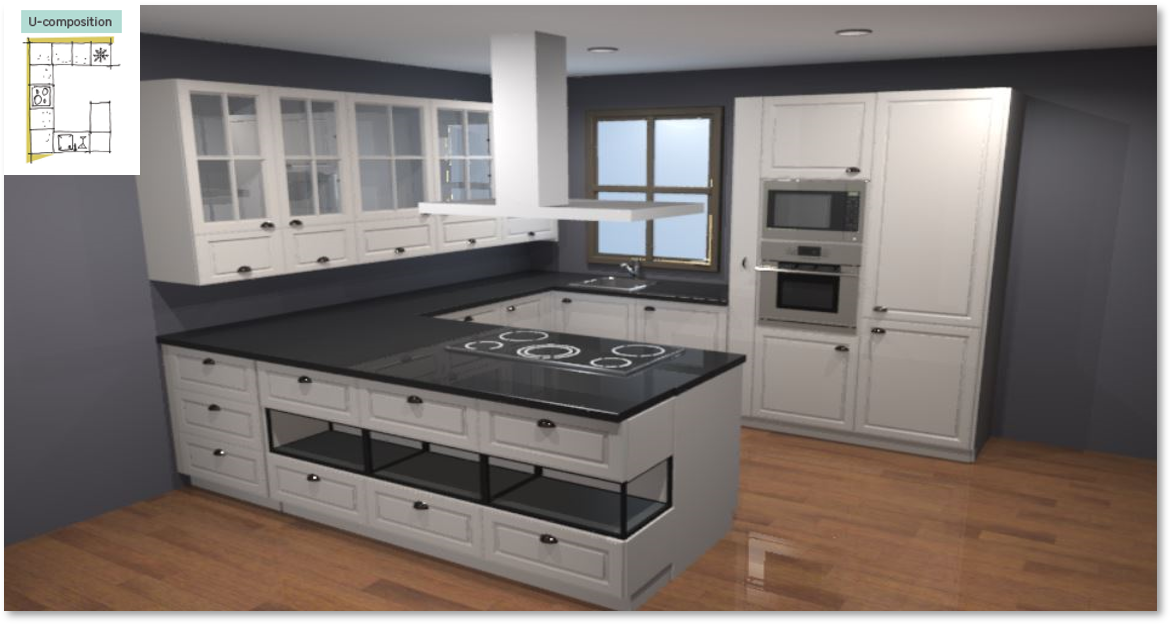 Oxford Inspirational kitchen layout examples - Example 3