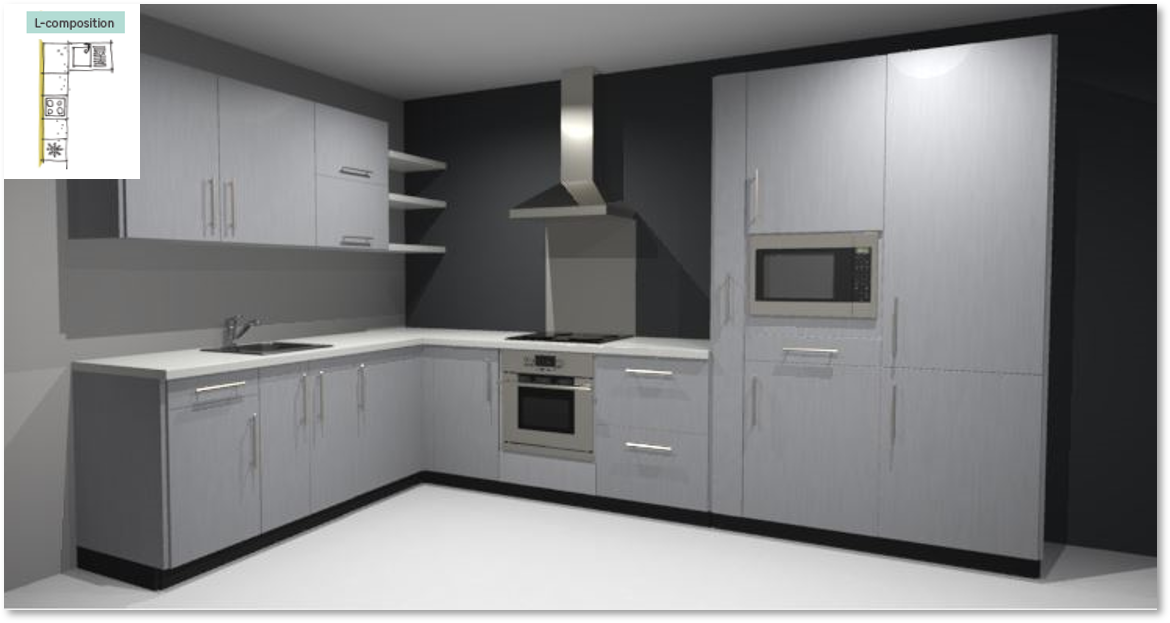 Inspirational kitchen layout examples - Example 2