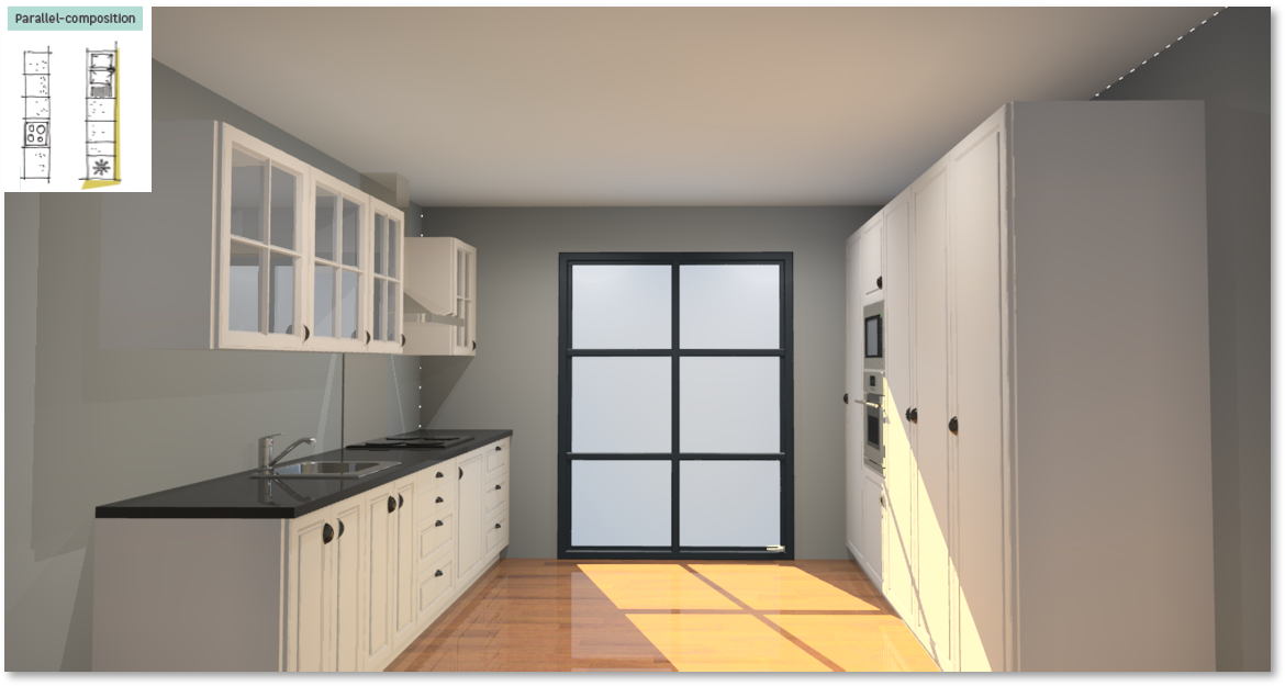 Oxford Inspirational kitchen layout examples - Example 5