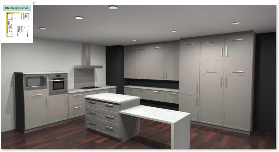 Newport Taupe Inspirational kitchen layout examples - Example 6