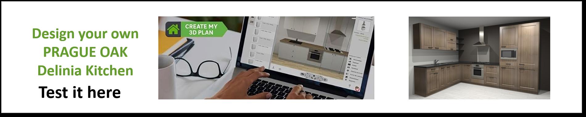 Create or Design your own Delinia Prague Designer Kitchen