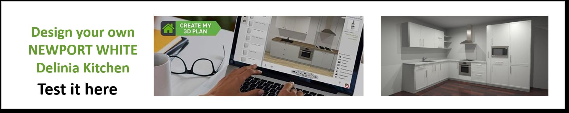 Create or Design your own Delinia Newport White Designer Kitchen