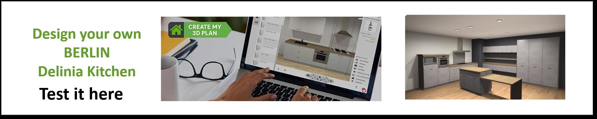 Create or Design your own Delinia Berlin Designer Kitchen