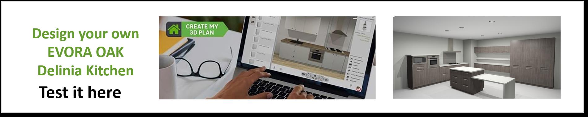 Create or Design your own Delinia Detroit Designer Kitchen