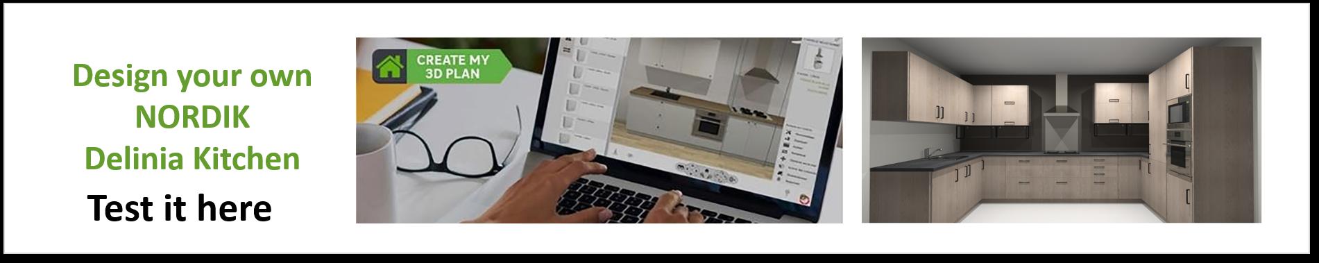 Create or Design your own Delinia Nordik Designer Kitchen