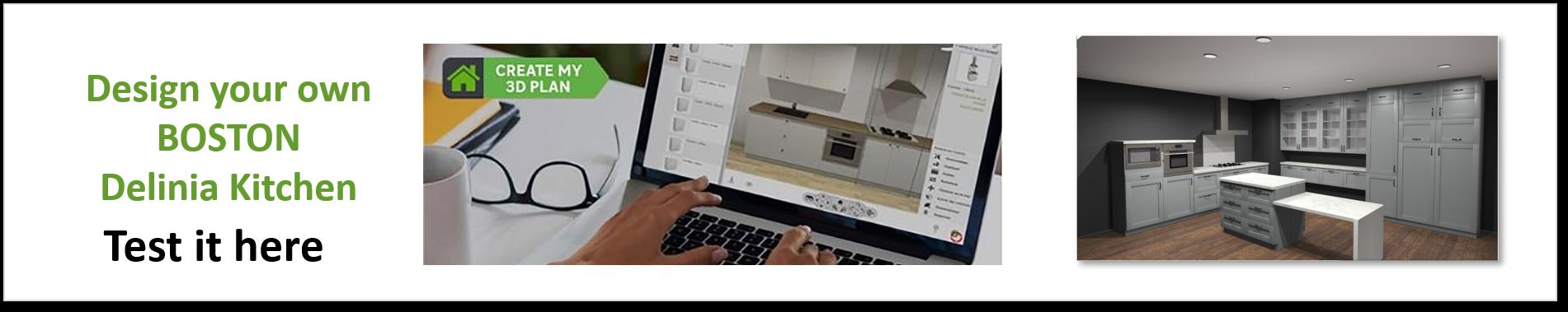 Create or Design your own Delinia Boston Designer Kitchen
