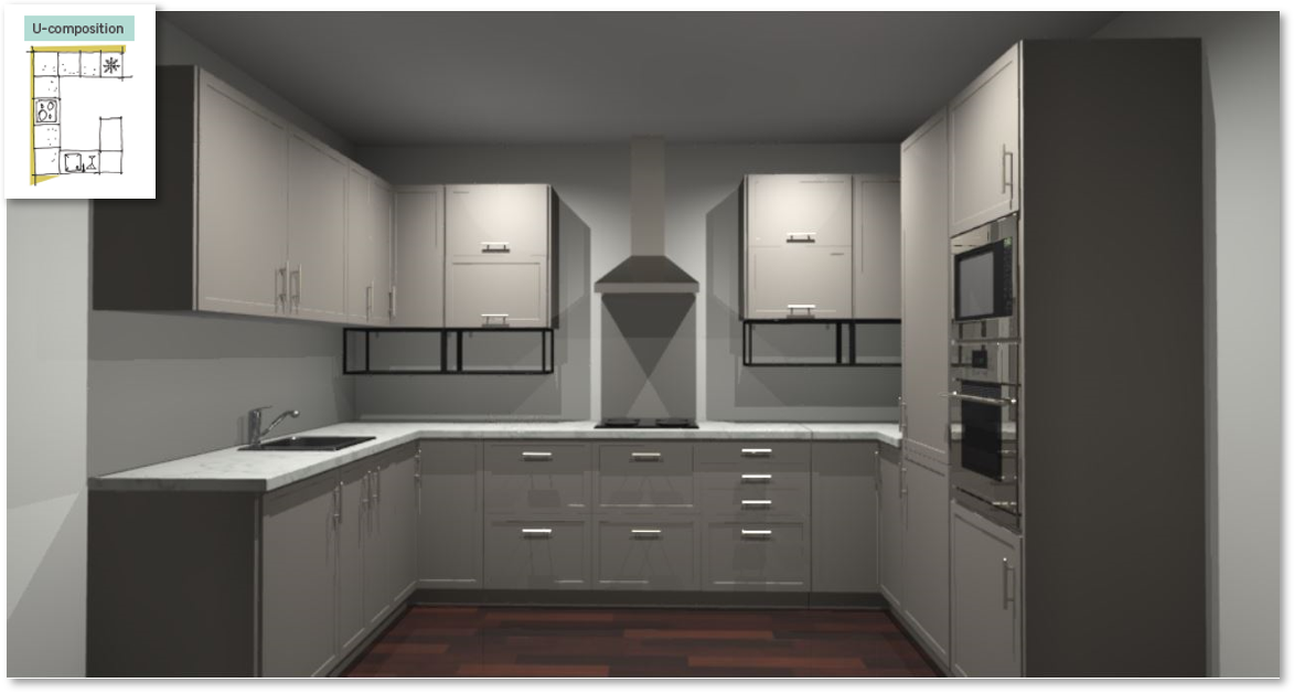 Newport Taupe Inspirational kitchen layout examples - Example 4