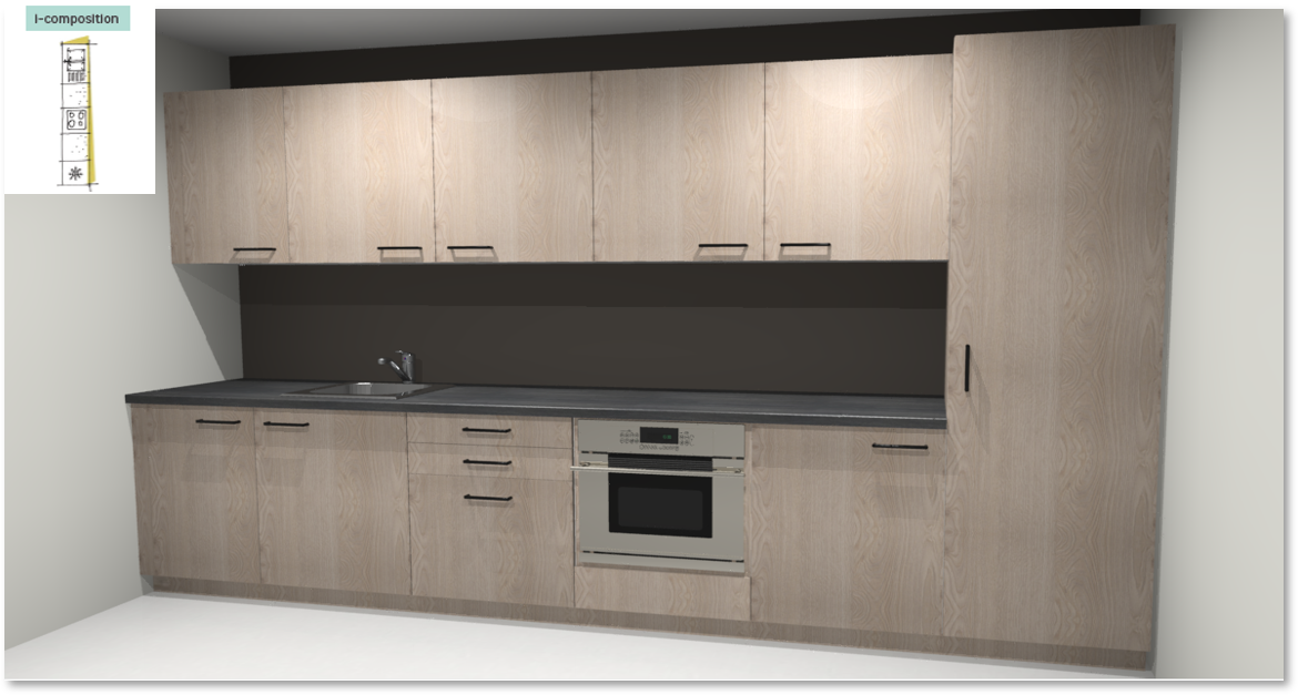Nordik Inspirational kitchen layout examples - Example 1