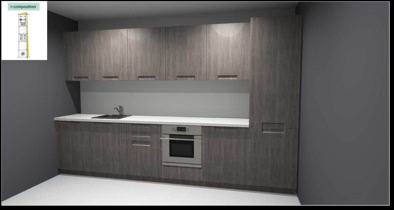 Evora Oak Inspirational kitchen layout examples - Example 1