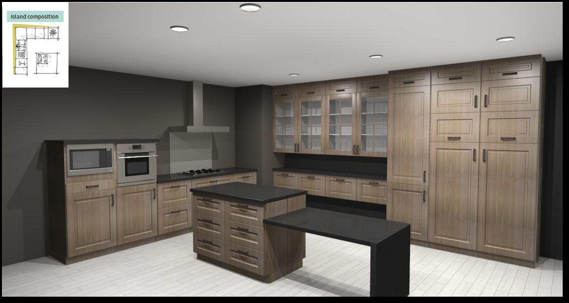 Prague Inspirational kitchen layout examples - Example 6