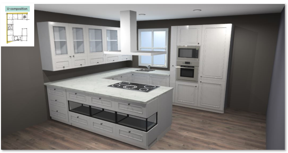 Moscow Inspirational kitchen layout examples - Example 3