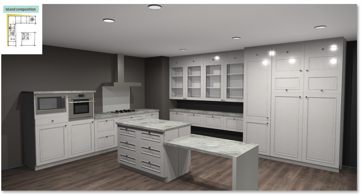Moscow Inspirational kitchen layout examples - Example 6