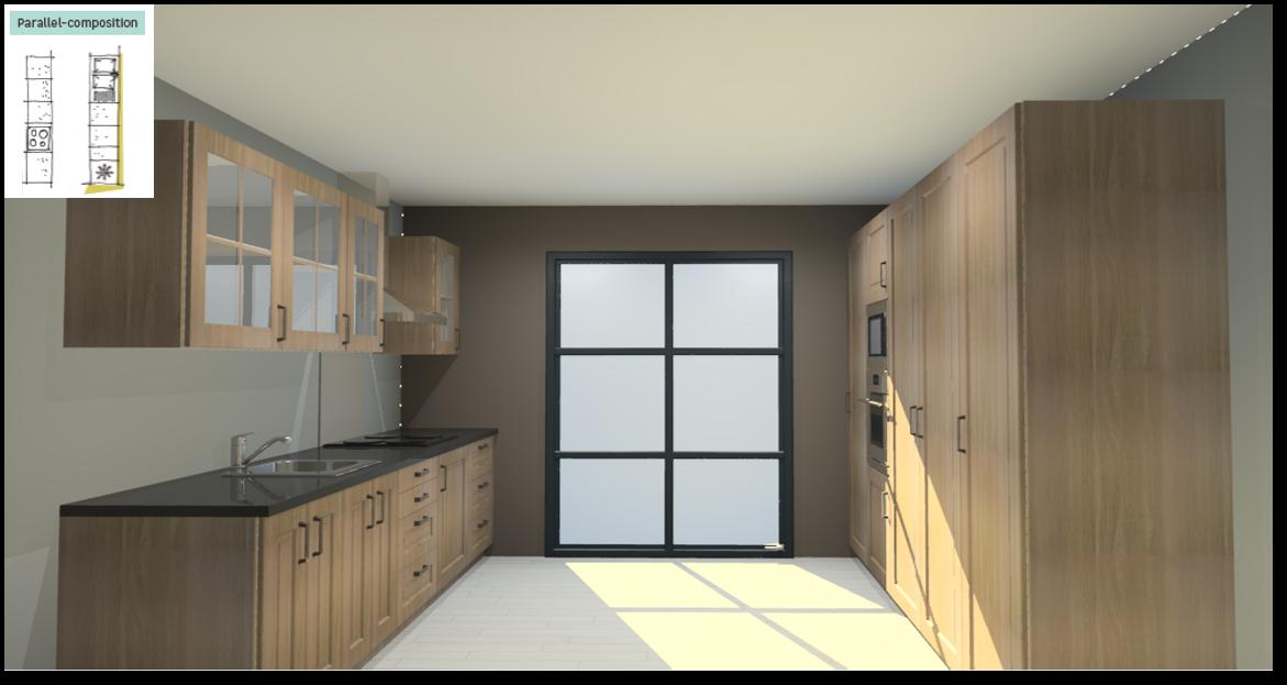 Prague Inspirational kitchen layout examples - Example 5