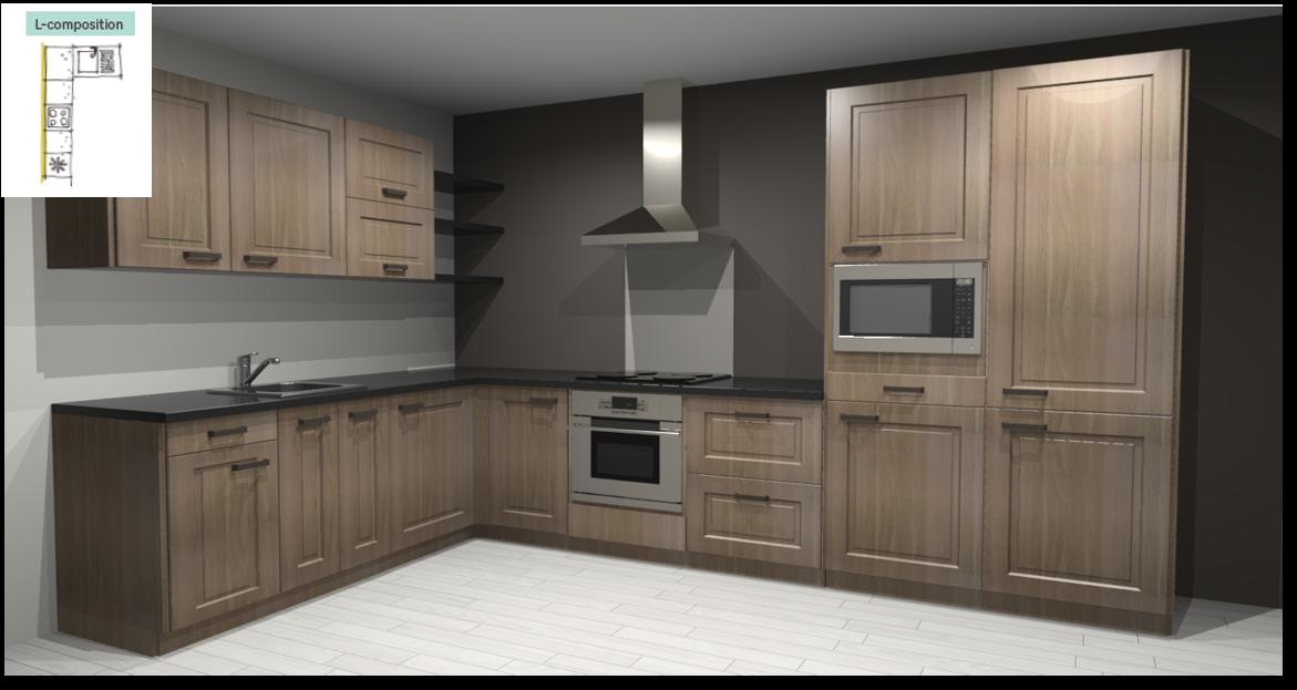 Prague Inspirational kitchen layout examples - Example 2