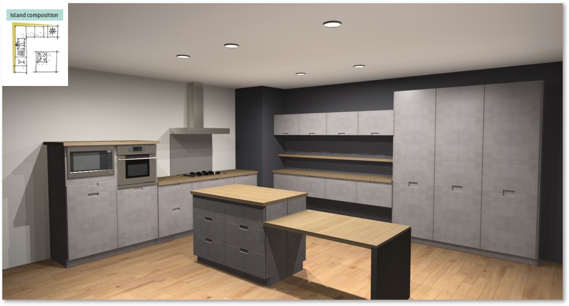 Inspirational kitchen layout examples - Example 6