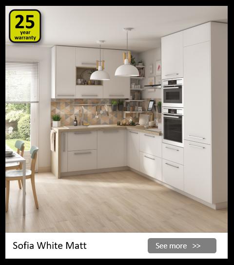 Explore the Delinia Sophia White kitchen range. Be inspired.