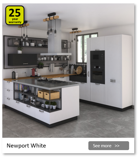 Explore the Delinia Newport White kitchen range. Be inspired.