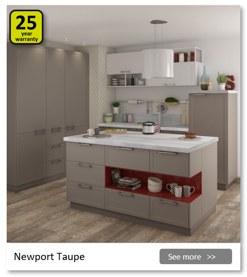 Explore the Delinia Newport Taupe kitchen range. Be inspired.