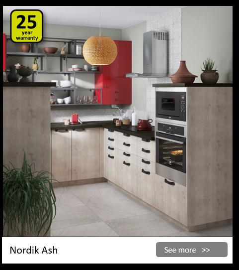 Explore the Delinia Nordik Ash kitchen range. Be inspired.