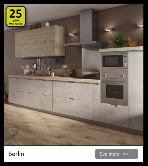 Explore the Delinia Berlin kitchen range. Be inspired.