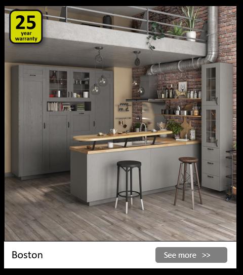 Explore the Delinia Boston kitchen range. Be inspired.
