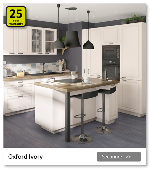 Explore the Delinia Oxford Ivory kitchen range. Be inspired.