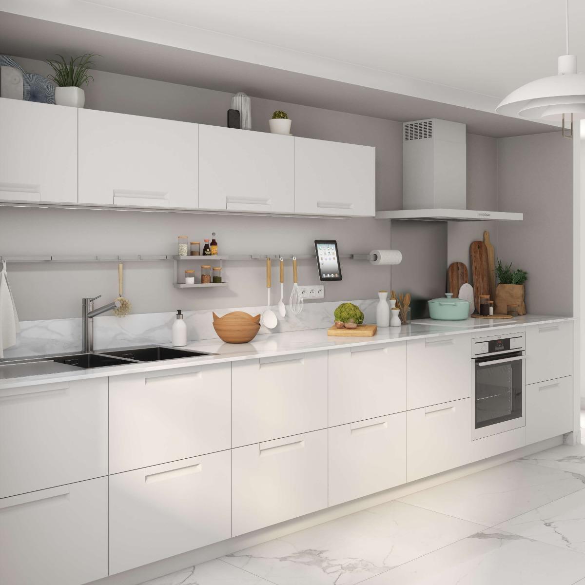 Delinia Evora White Designer Kitchen Mobi - Example 3