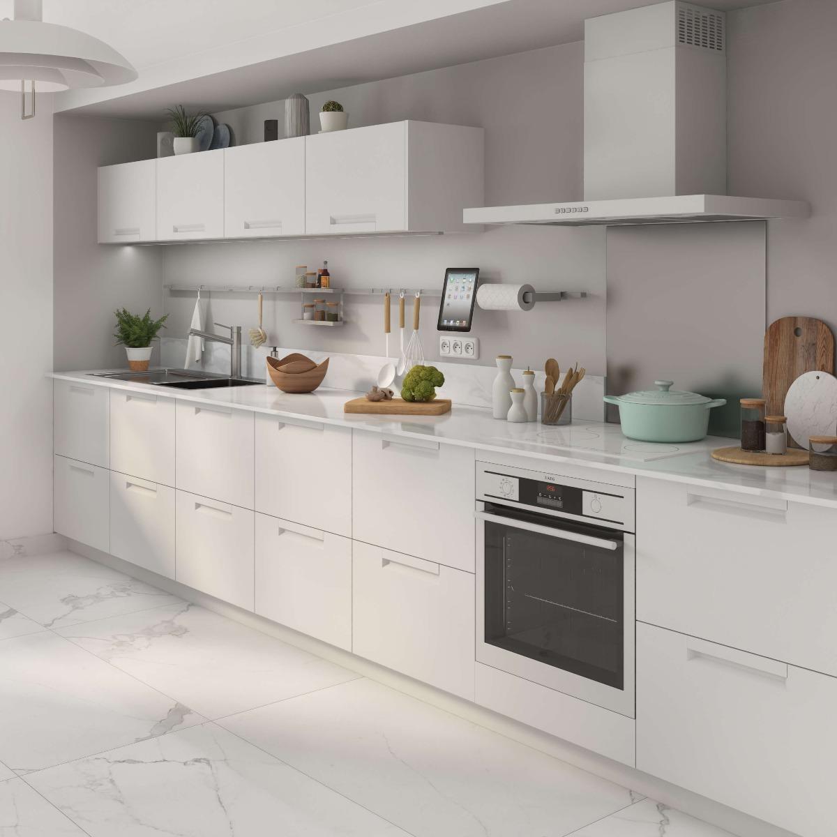 Delinia Evora White Designer Kitchen Mobi - Example 1