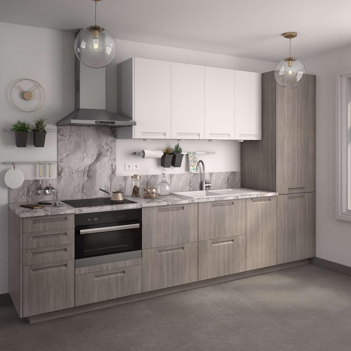 Delinia Evora White Designer Kitchen Mobi - Example 6