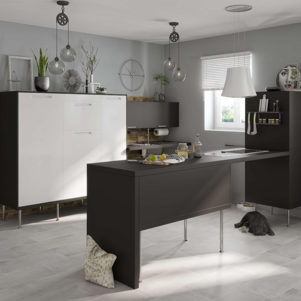 Delinia Evora White Designer Kitchen Mobi - Example 5
