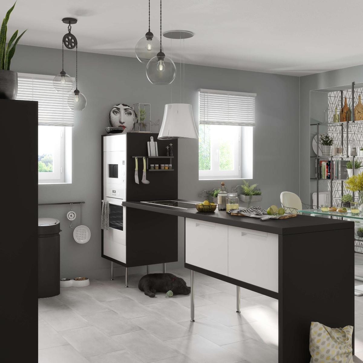 Delinia Evora White Designer Kitchen Mobi - Example 2