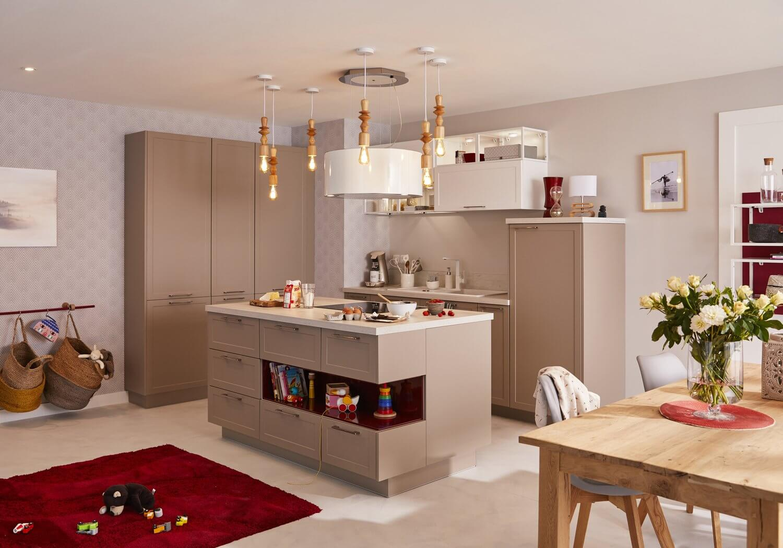 Delinia Newport Taupe Designer Kitchen Mobi - Example 1