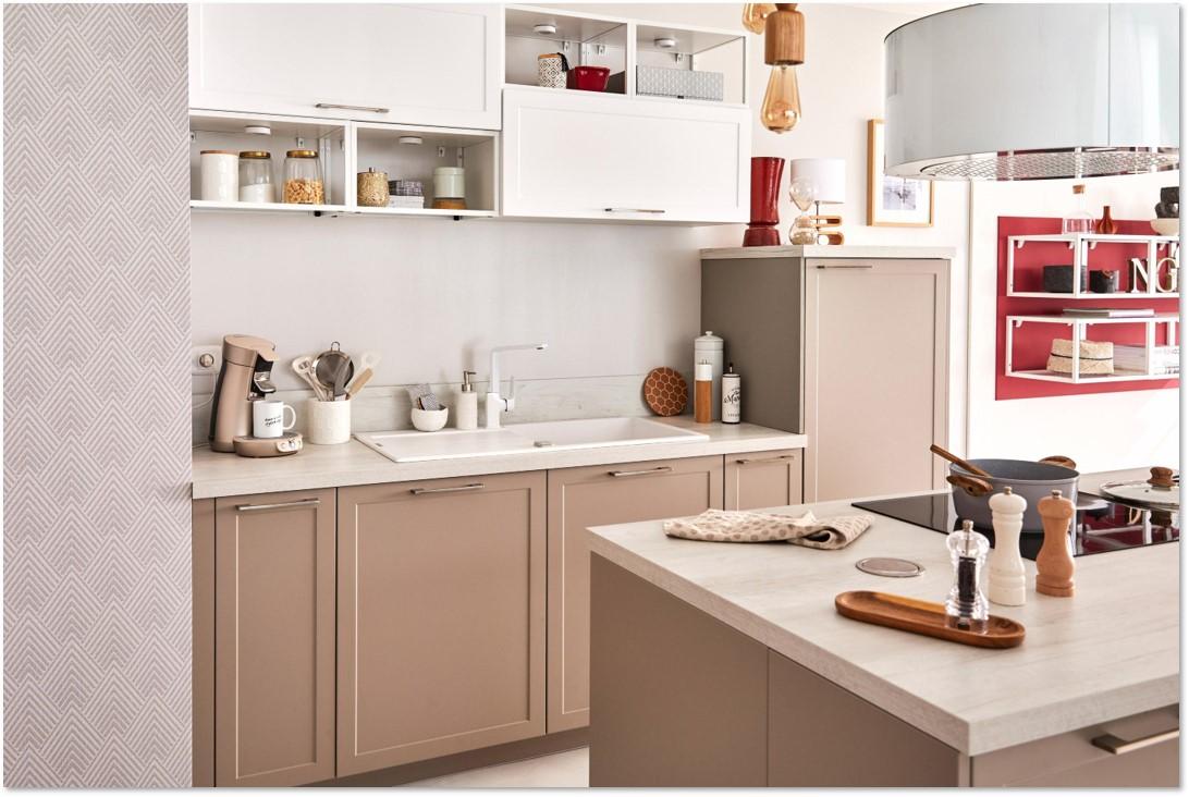 Delinia Newport Taupe Designer Kitchen Mobi - Example 3