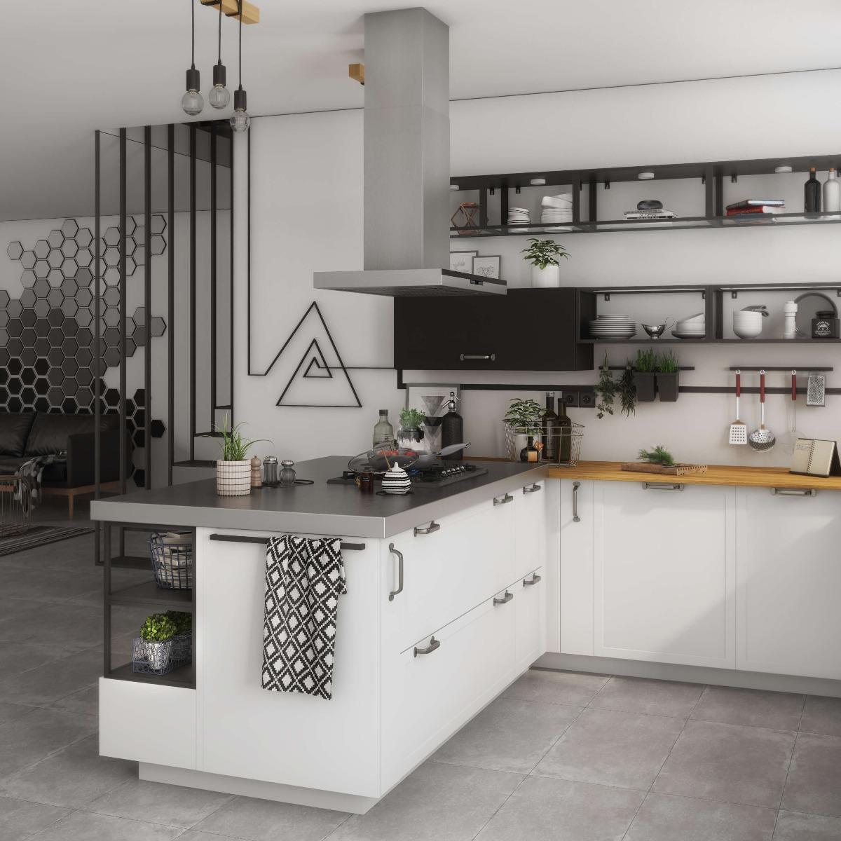 Delinia Newport White Designer Kitchen Mobi - Example 4