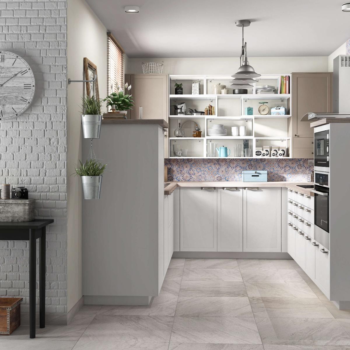 Delinia Newport White Designer Kitchen Mobi - Example 2