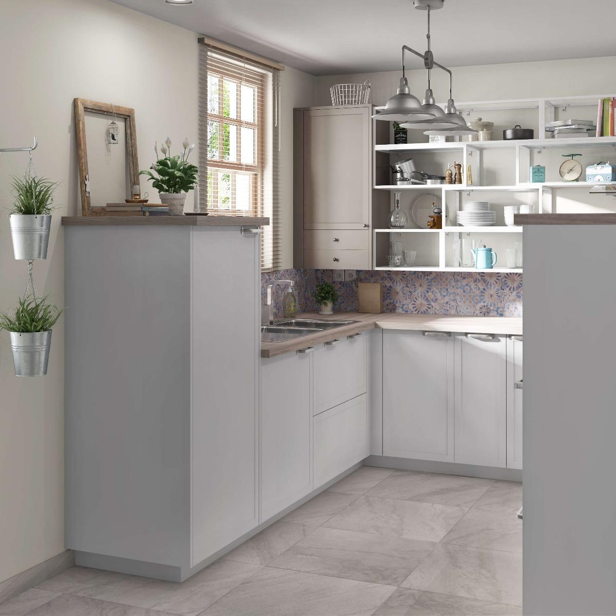 Delinia Newport White Designer Kitchen Mobi - Example 3