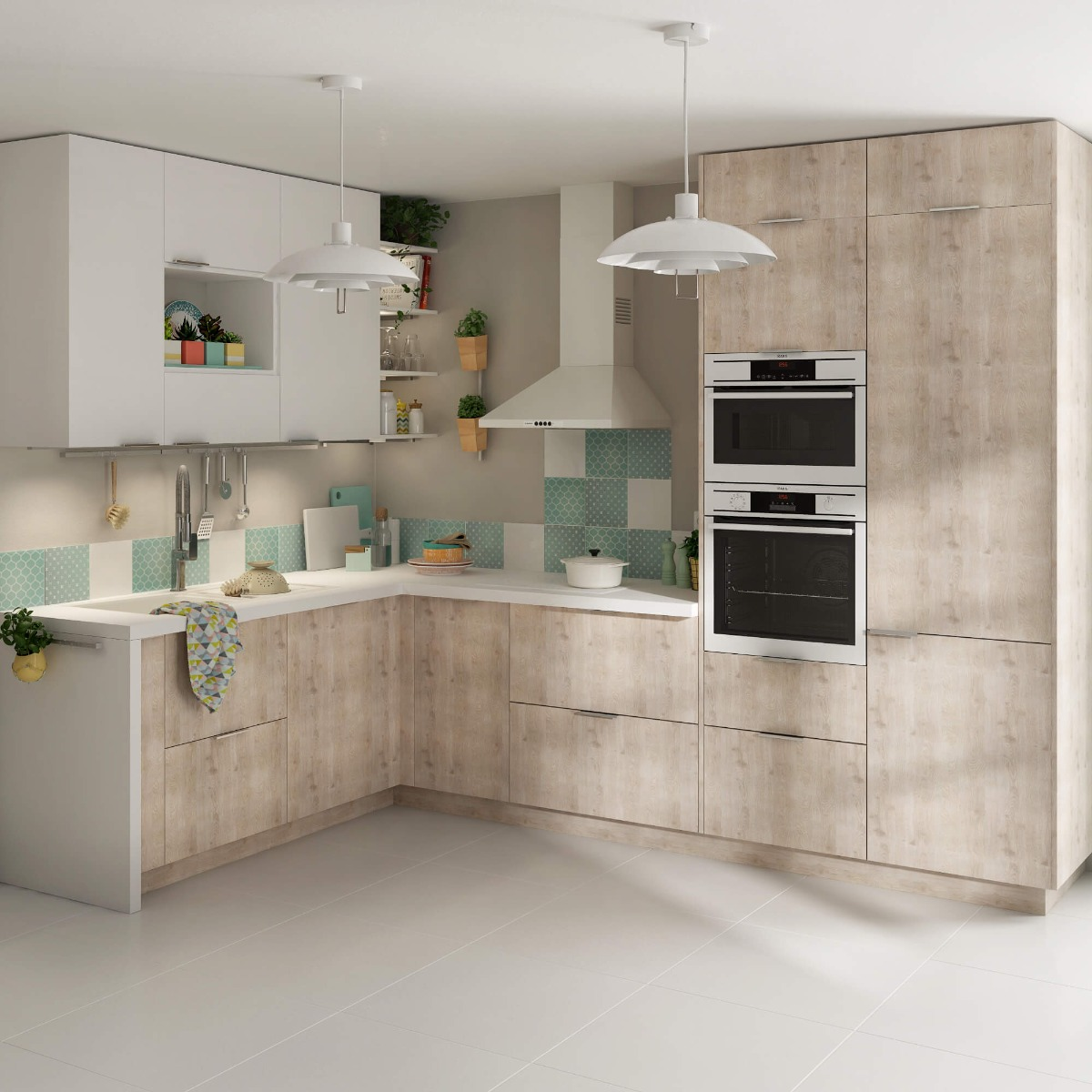 Delinia Nordik Designer Kitchen Mobi - Example 1