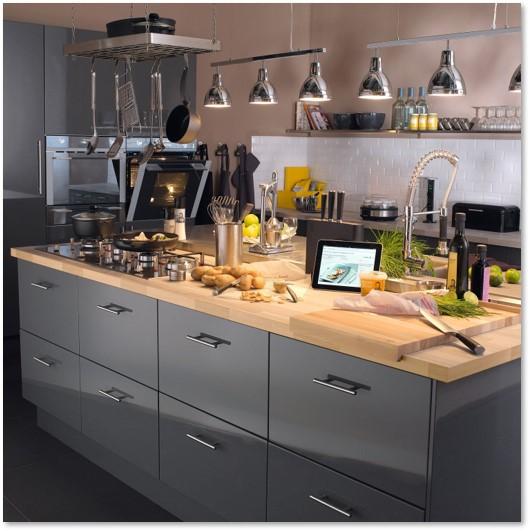 Delinia Sevilla Grey Designer Kitchen Mobi - Example 1